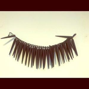 Spike black bracelet